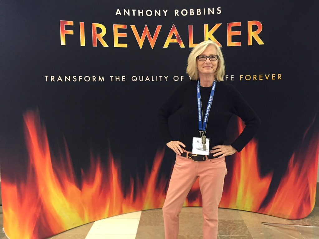Fire walking-Nancy-Dye-Tony Robbins'-Unleash-the-Power-Within Event